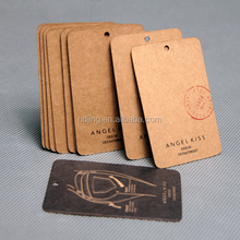 Custom Logo Jewelry Hair Extension Printed Kraft Paper Hang Tag(A-023)