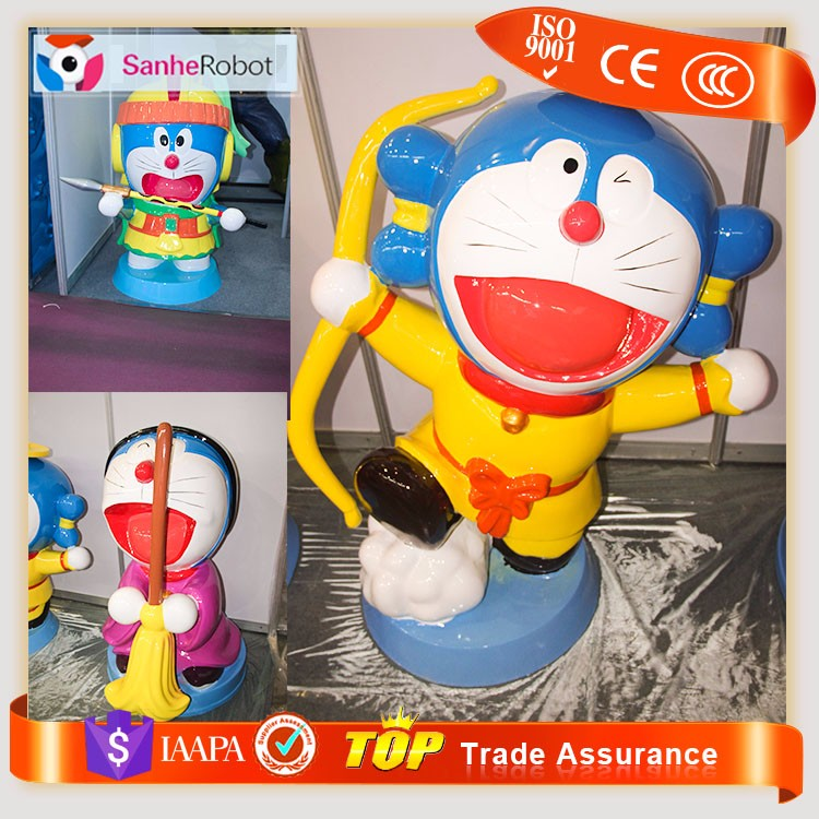 Lovely Fiberglass Doraemon Cartoon Design Figures life size doraemon
