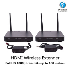 hdmi wireless extender 100m, 2018 latest Digital 2.4G /5GHz dual frequency wireless A/V transmission HD wireless HDMI Extender