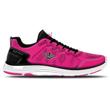 Pink cute mesh upper breathable women 2017 oem design action sports running shoes