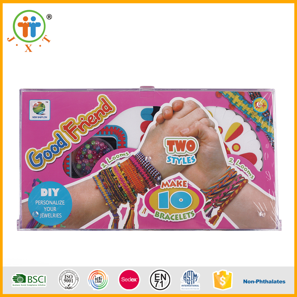 Best sales educational toy colorful bracelet wire bead diy craft for girls