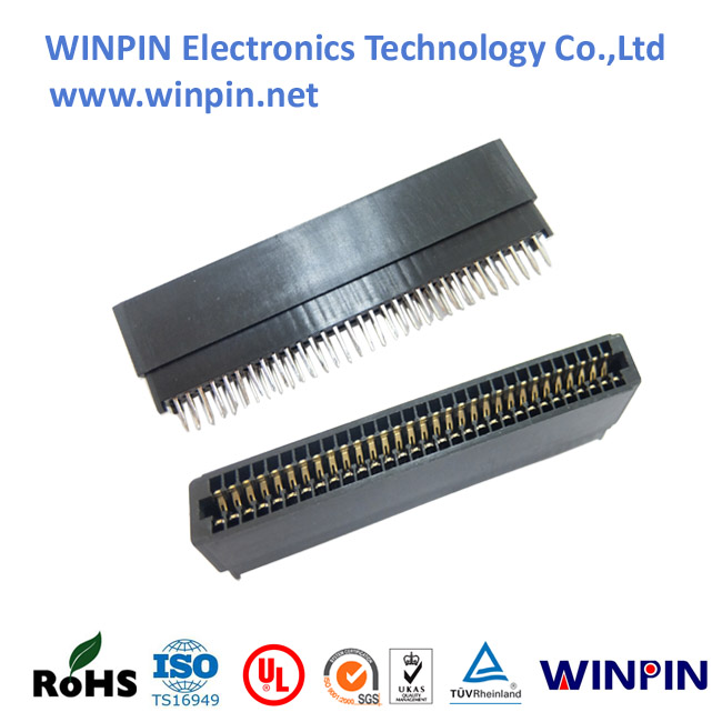 2.54mm slot card edge contact centers 6-100p female dip/right angle through hole Card Extender