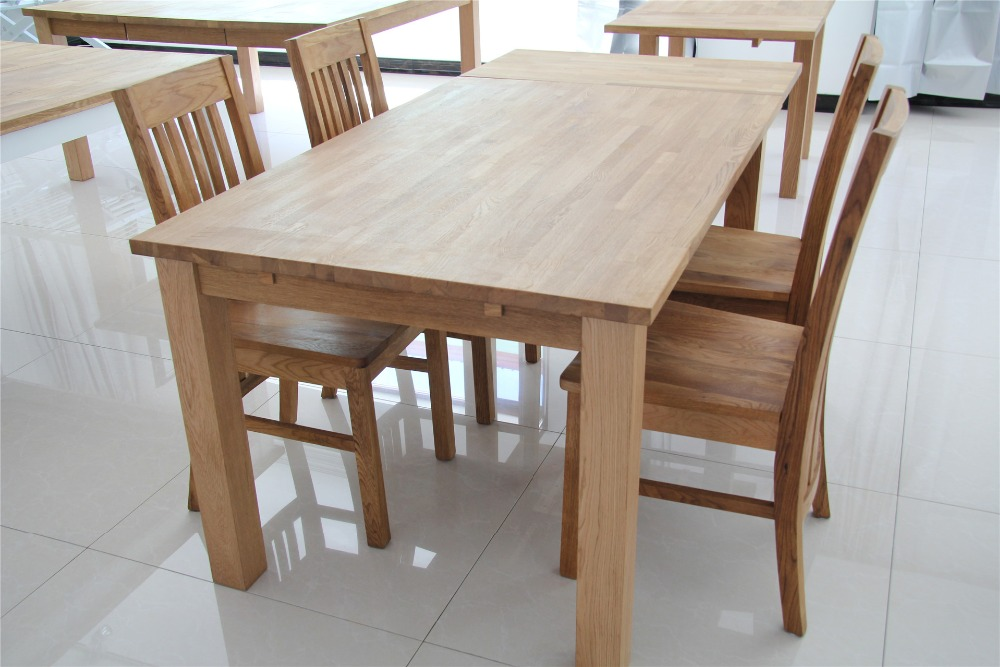 Dining room furniture sets brush oak kitchen table chairs