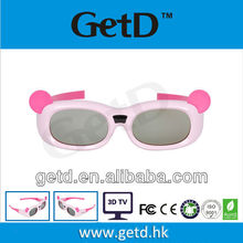 universal pink girl shutter 3D glass for 3D TVs--GH600