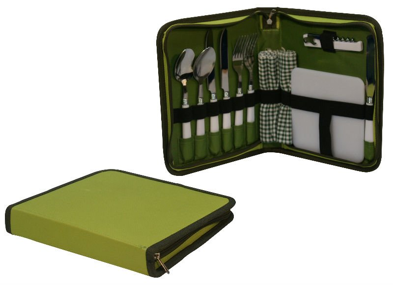 Collapsible mini picnic basket set for 2 Person