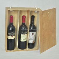 Pine Wood Wine Bottle Shipping Boxes