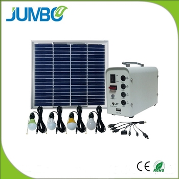 10W home solar powered lighting system