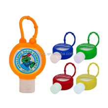 OEM round shape silicone hand sanitizer holder
