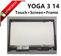 Laptop LED Screen touch lcd assembly MV140FHM-N43 LP140WF3-SPL2 laptop replacement Digitizer for YOGA 3 14 80JH 1920x1080