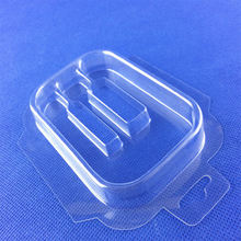 Disposable factory custom usb cable clamshell blister packaging with hang hole