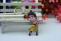 Retractable key Chain 3d PVC Cartoon Keychain