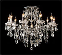 Contemporary indoor crystal chandeliers ceiling lighting MD8806-L10+1