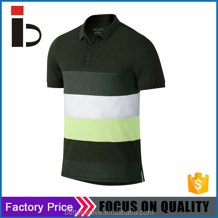 Fashion design Contrast colors Custom pique mens polo shirt