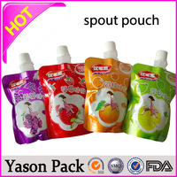 YASON hidden spout pouch 100ml small stand up spout bag stand up pouch doy pack packaging spout pouch