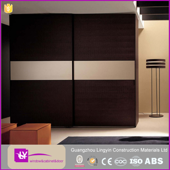 New fashion design lacquer wooden bedroom wardrobe in high quality