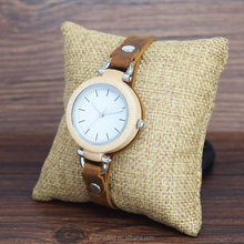 32MM Girls Fashion Womens Wooden Watch Brand Watches Ladies