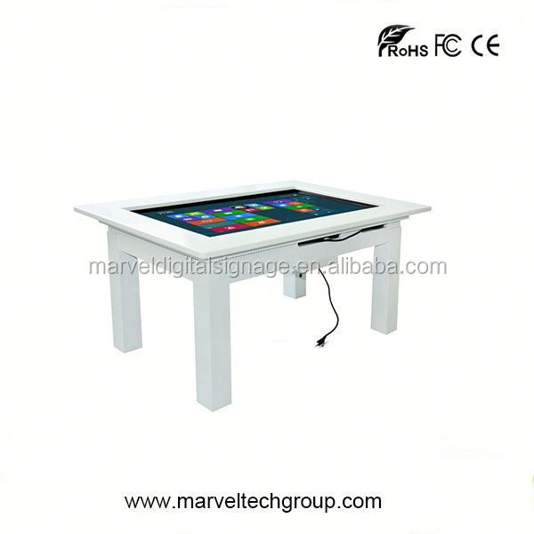 interactive mutil touch screen wall mounted table folding