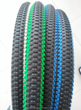 blue,green,yellow,red,pink, white color bicycle tire