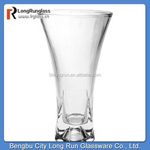 LongRun cheap Art Style and Home Decoration Use glass vase clear glass vase