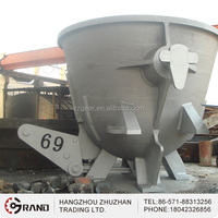 Large capacity metal scrap slag pot