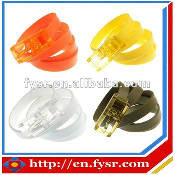 Factory direct sale silicone belt TPE belt summer candy belt