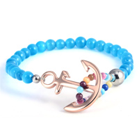 Colorful Bead Bracelet Fashion Blue Quartz Bead Bracelet