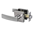 Entry Door Lever, Bright chrome
