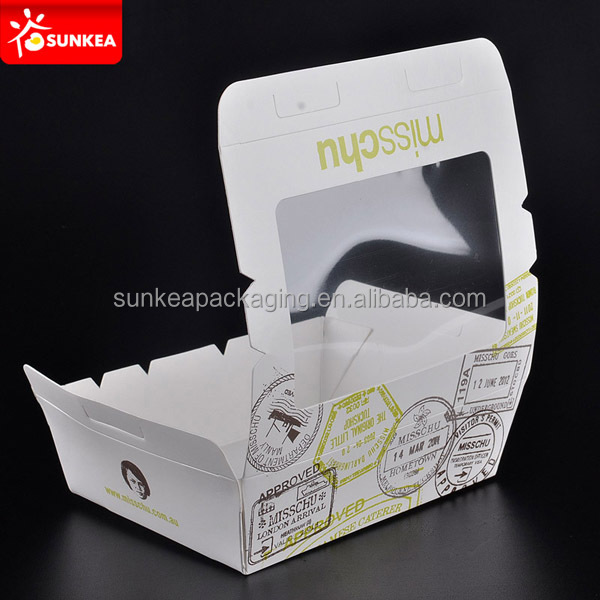 Paper disposable take away salad box