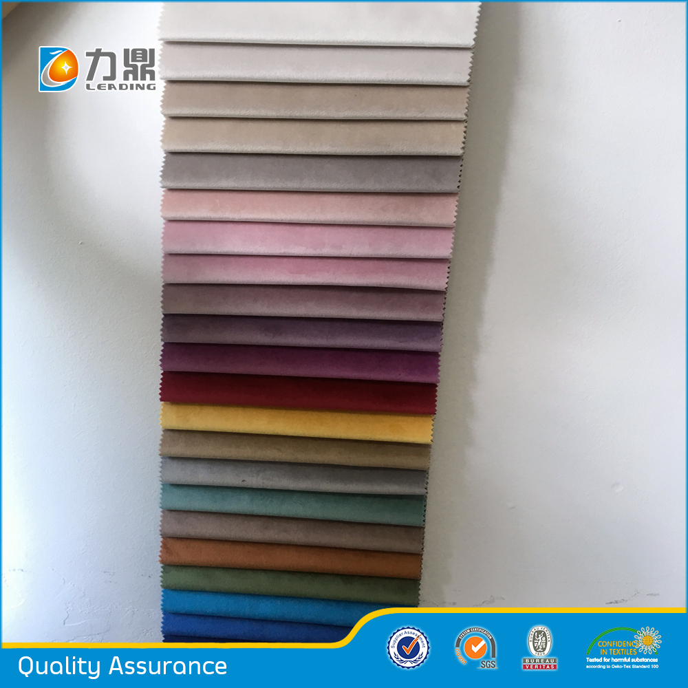 China Factory Colorful Sofa Upholstery Velvet Fabric Color Chart