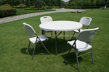 4ft Round Plastic Round Table 122cm/1.2m Meeting Table For 4 6 People