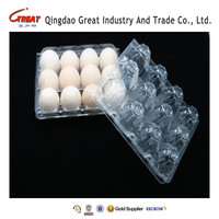Manufacture sale high quality disposable plastic quail eggs tray