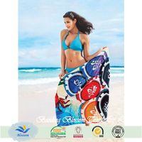 china wholesale textiles 100% cotton custom print beach towel