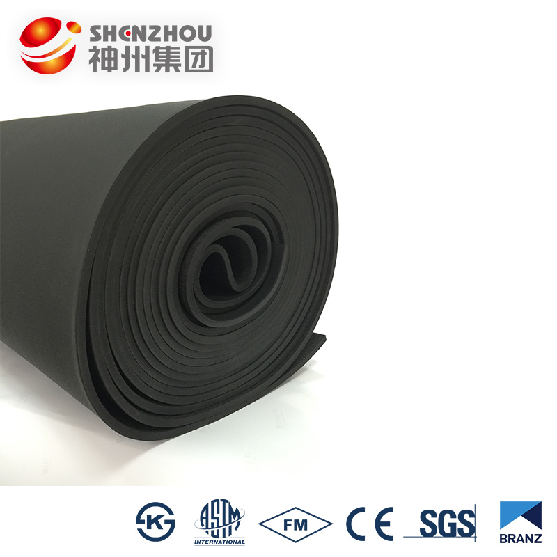 black nbr pvc sheet tube cell non flammable insulation sound absorption for car