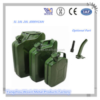 5L 10L 20L Fuel Petrol Metal Jerry Can With Flexible Spout