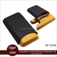 Guangzhou Yujia portable leather custom cigar case with gift box HY-1310L