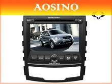 2012 New Special 8 inch double din SSANGYONG Korando Car DVD player / Car audio / car gps with Gps Navigation map bluetooth RDS