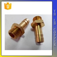 "Brass Pipe Fitting, Hex Nipple, 1/4"" x 1/4"" NPT Male Pipe"