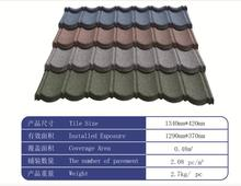 easy install light sand/ stone coated metal /steel roofing/roof tiles