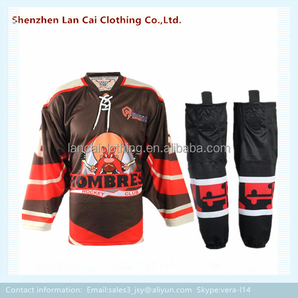 free freight ice hockey jersey sets factory custom made hockey jerseys