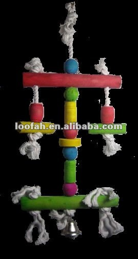 new designed colorful wooden bird perch toy