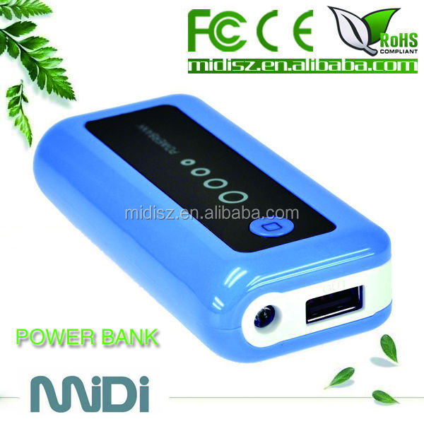 Shenzhen Factoy price mobile power bank /led power bank battery charger 2300mah