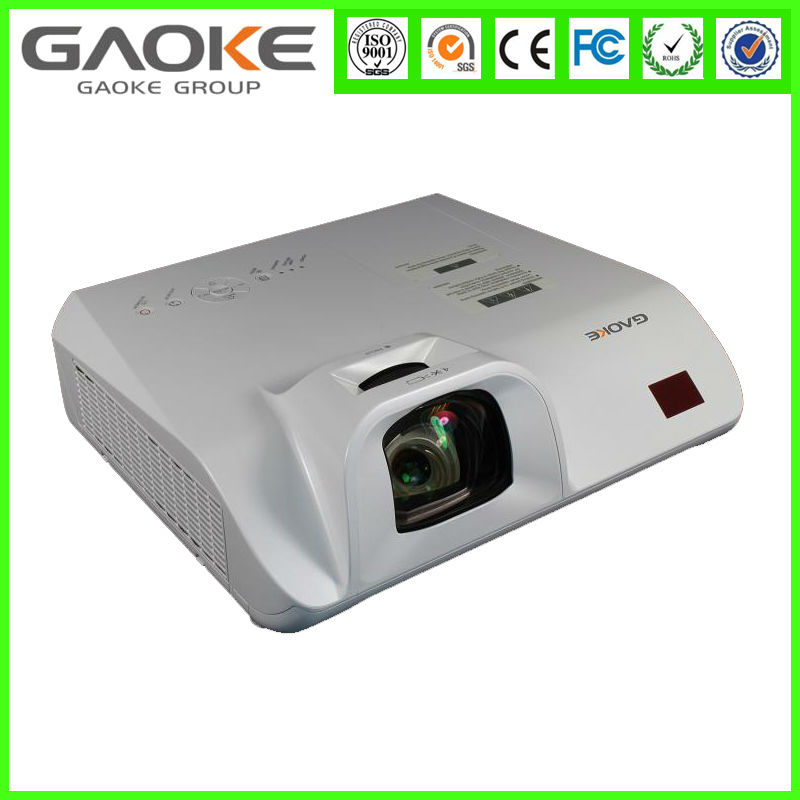 China Manufacturer 1080P 3D Projector Beamer Mini Led 3000Lumens 1280*800 Portable SizeTV ultra Short throw Projector