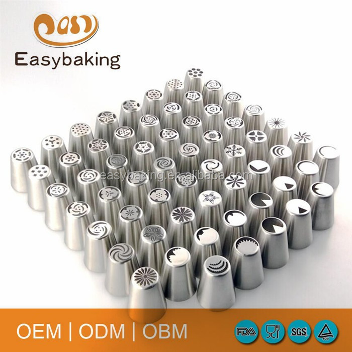 Popular cake Decoration Stainless Steel Russian Piping Tips