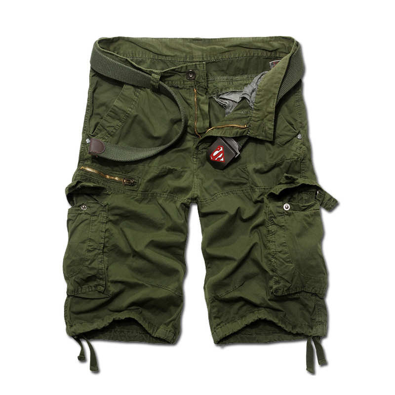 2015 Shorts Solid Color Camouflage Cargo Military Shorts Men Outdoor Summer Loose Running Shorts Men Army Short Pants