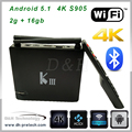 Smart TV Box quad Core Android 5.1 android quad core tv box 4k play store app android