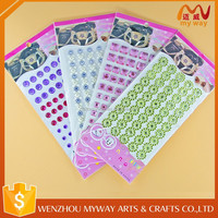 Colorful Easy use mobile phone crystal stickers