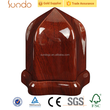 high glossy antique red perfume bottle box packaging wooden