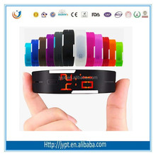 Hot Selling Silicon LED Quamer Sport Watch Price for Lady
