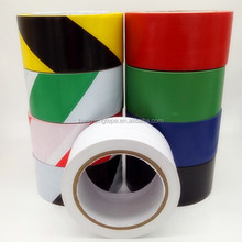 Red and White Stripe Adhesive Safety PVC Floor Tape