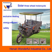 New arrival three wheel solar moto a tre ruote for cargo